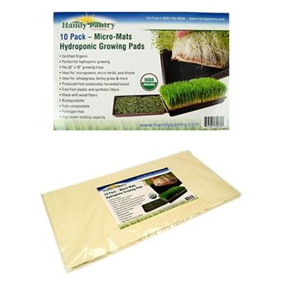 Handy Pantry Micro-Mats Hydroponic Growing Pads 10 Pack