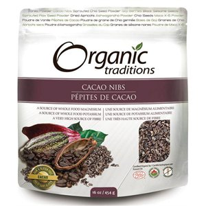 Organic Traditions Certified Organic Cacao Nibs 454gr