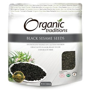 Organic Traditions Certified Organic Black Sesame Seeds 454gr