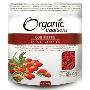 Organic Traditions Certified Organic Goji Berries 454gr