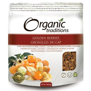 Organic Traditions Certified Organic Wild Crafted Goldenberries 454gr