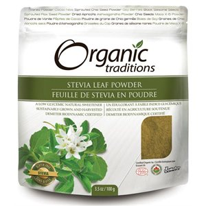 Organic Traditions Certified Organic Stevia Green Leaf Powder 100gr