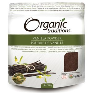 Organic Traditions Certified Organic Whole Vanilla Bean Powder 100gr