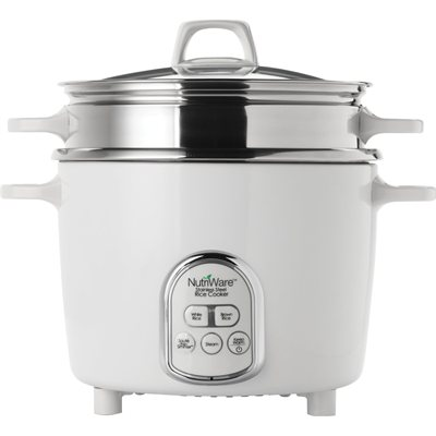 Aroma NutriWare Stainless Steel 14-Cup Rice Cooker NRC-6875D-1SG