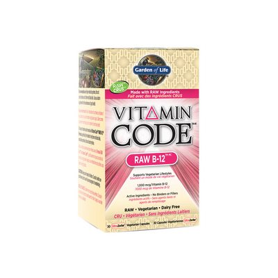 Garden of Life Vitamin Code Raw B-12 30 Capsules