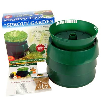 Handy Pantry Sprout Garden 3 Tray Stackable Sprouter