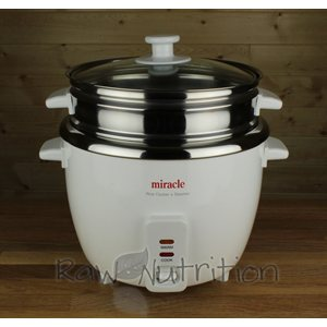 Miracle Exclusives Miracle Stainless Steel Rice Cooker ME-81