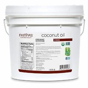 Nutiva Organic Virgin Coconut Oil 1 Gallon  /  8lbs  /  3.63kg