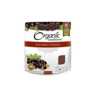 Organic Traditions Certified Organic Freeze Dried Acai Berry Powder 100gr