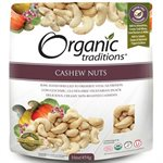 Organic Traditions Certified Organic Raw Cashews 454gr