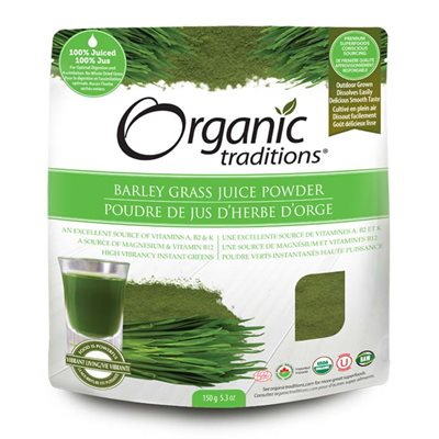 Organic Traditions Certified Organic Barley Grass Juice Powder 150gr
