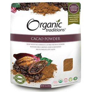 Organic Traditions Certified Organic Cacao Powder 454gr