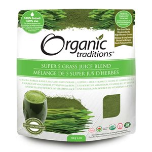 Organic Traditions Certified Organic Super 5 Grass Juice Blend 150gr