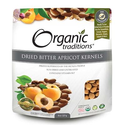 Organic Traditions Certified Organic Dried Bitter Apricot Kernels 227gr