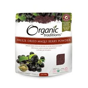 Organic Traditions Certified Organic Freeze Dried Maqui Berry Powder 100gr