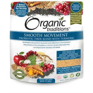 Organic Traditions Probiotic Fiber Blend with Tumeric 200gr