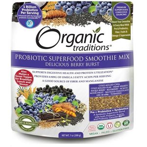 Organic Traditions Probiotic Superfood Smoothie Mix Berry Blast 200gr