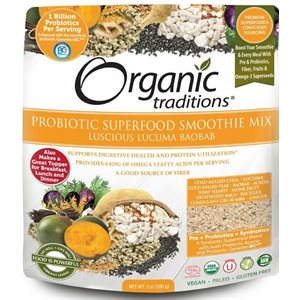 Organic Traditions Probiotic Superfood Smoothie Mix Lucuma Baobab 200gr