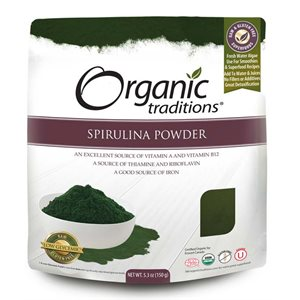 Organic Traditions Certified Organic Spirulina Powder 150gr