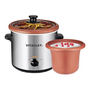 Vita Clay 2-in-1 Yogurt Maker and Slow Cooker Model VS7600-2C