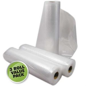 Weston Commercial Grade Vacuum Bags 11 in x 18 ft 3 Roll Value Pack