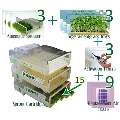 EasyGreen Complete Wheatgrass Growing Package